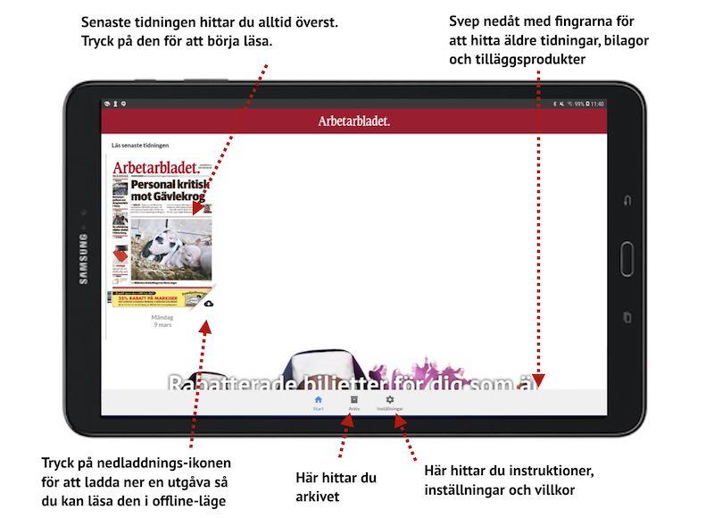 Android e-tidningsapp
