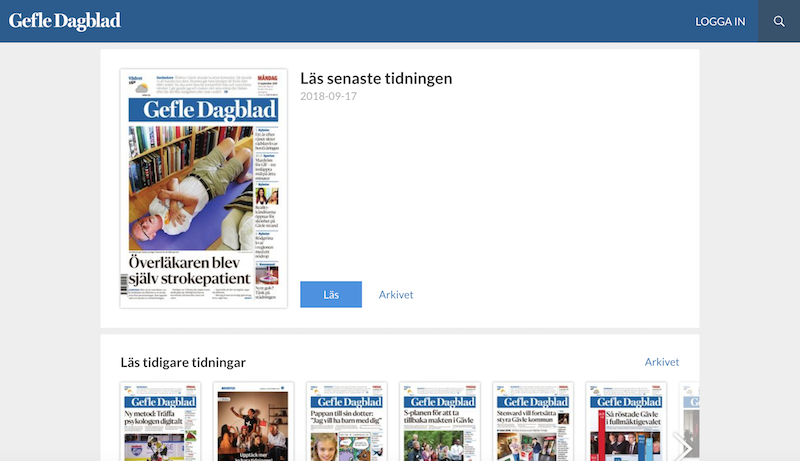 E-tidningen Gefle Dagblad