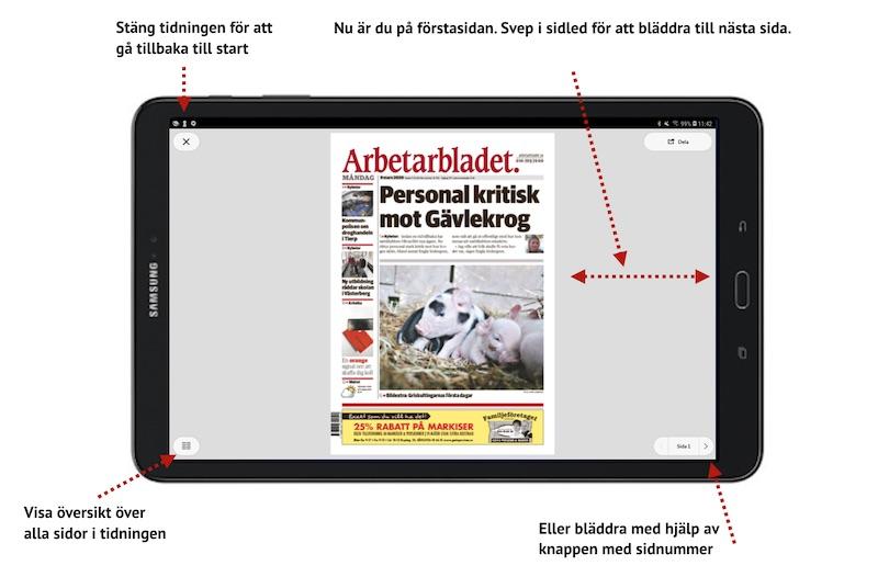 E-tidningsapp Android